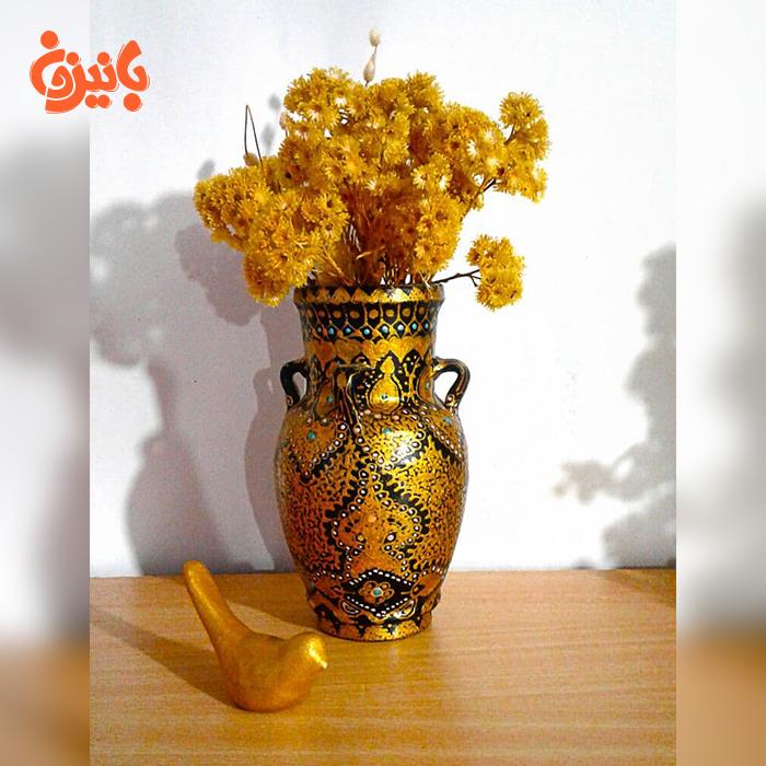 گلدان سفالی دست ساز