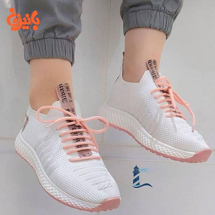 کفش جورابی سفید فشن