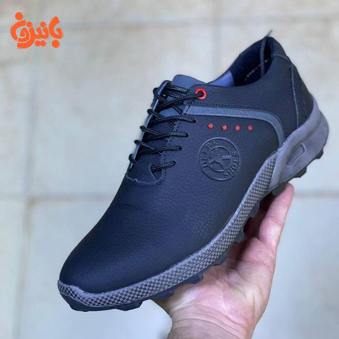 کفش چرم اصل آبی