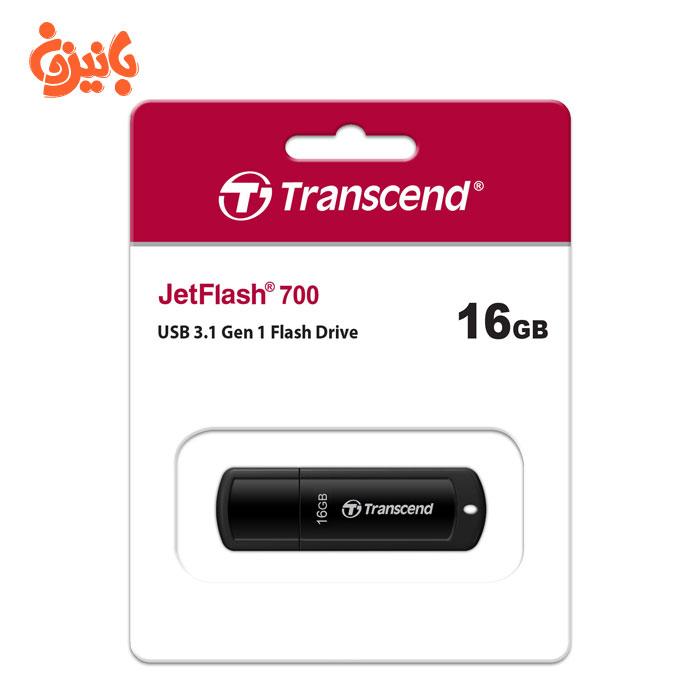 فلش مموری ترنسند JetFLASH 700 16GB USB 3.1