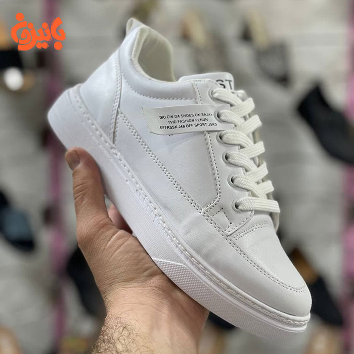 کفش چرم سفید فشن